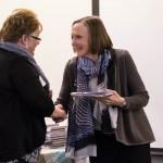 ACRE particpant Belinda Glaude of Newbury, VT, left, receives her plaque from CCV President Joyce Judy.