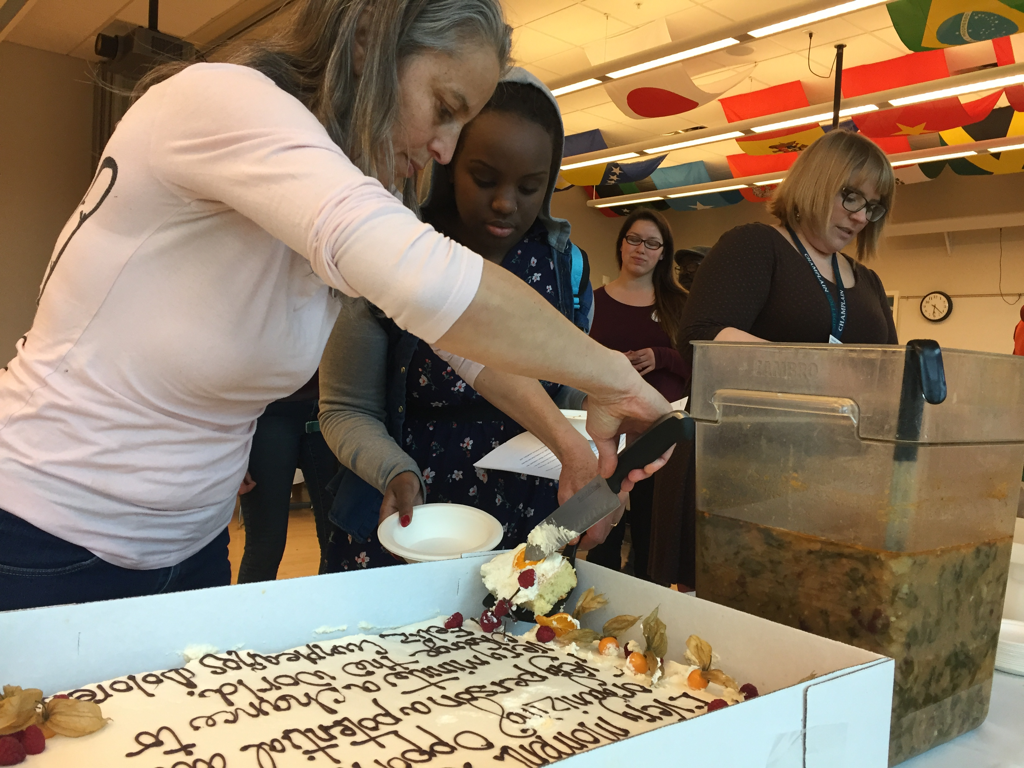 Students, staff, and community members gathered last week for CCV-Winooski's annual International Food Festival.