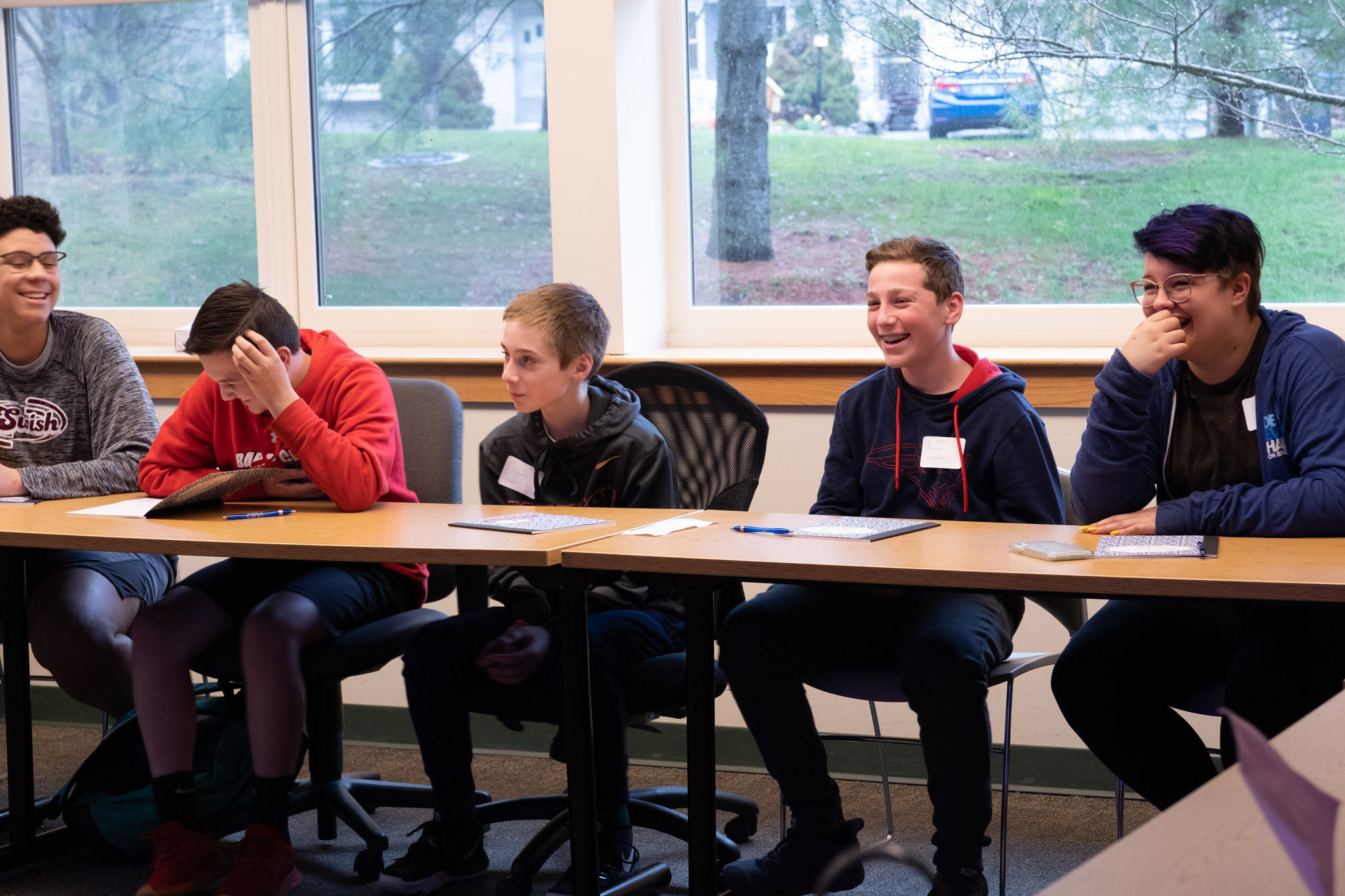 Students from Barre City Middle School attend a mock class at CCV-Montpelier.