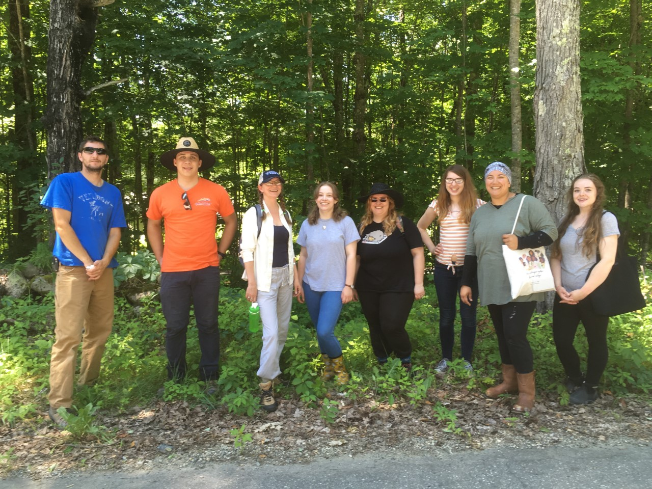 Natural History of Vermont students helped remove Japanese knotweed from the Big Rock Nature Preserve in Lyme, New Hampshire as part of a service learning project.